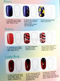 design nail art pens 2 colors in one 6 basic beauty colors