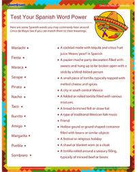test your spanish word power u2013 vocabulary worksheet for kids