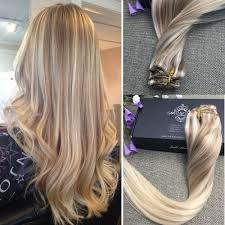 16 Inches Hair Extensions by Amazon Com Full Shine 20inch Nordic Balayage Remy Clip Hair