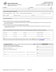 fillable online renewal application for cwi scwi 3rd and 6th year