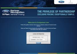 ford com login tournament ford partner x plan pricing