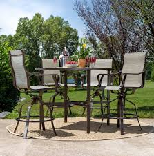 Patio Chairs Bar Height Rochester Sling 5pc Bar Height High Dining Patio Set La Z Boy