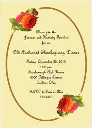 thanksgiving dinner invitations blooms of autumn