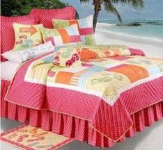 Girls Ocean Bedding by Surf U0027s Up Tropic Quilts U0026 Accessories C U0026f Tropical Seashell