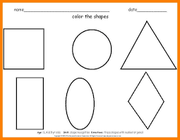 4 shapes worksheets for preschool simple cv formate