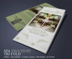 wellness spa brochure design u2013 top newsletter template