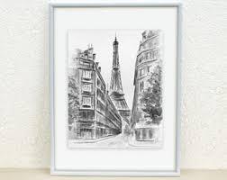 eiffel tower painting eiffel sketch paris painting paris