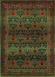 kharma green and red floral area rug floral border sphinx by