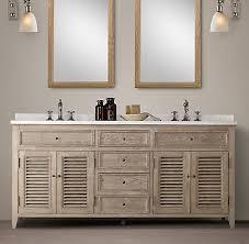 Restoration Hardware Bathroom Mirror by Shutter Bath Collection Aged Oak Rh
