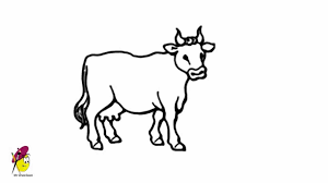 cow farm animals easy drawing how to draw a cow youtube