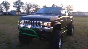 nissan hardbody 4x4 d21 mud truck black green nissan youtube