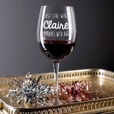 godmother wine glass personalised wine glasses cardfactory co uk