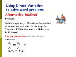 direct variation grade9 module 3 by mr joel garcia