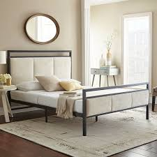 Jcpenney Bed Frame Innovations Almeta Metal And Fabric Mix Platform Bed Frame