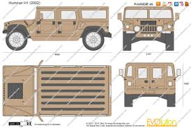 the blueprints com vector drawing hummer h1