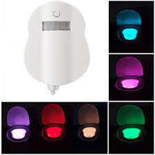 Motion Activated Night Light 8 Color Motion Activated Led Toilet Sensor Night Light Bowl