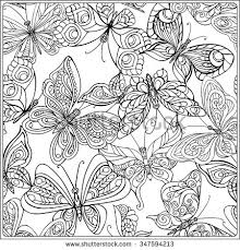 detailed butterfly coloring pages for adults pattern with butterflies coloring book for adult and older children