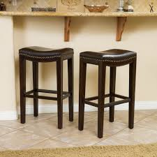 bar stools san marcos jeanne rustic retro distressed top grain leather brown barstool