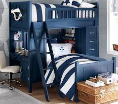 Camp Twin Bunk System Pottery Barn Kids - Navy bunk beds