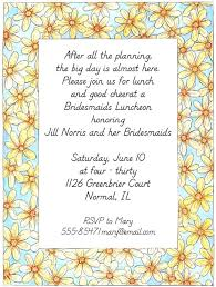 brunch invites wording bridal shower luncheon invitations