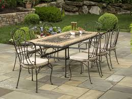 fancy wrought iron outdoor dining set black iron outdoor furniture
