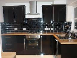 black backsplash kitchen kitchen for small space with solid wood kitchen cabinet and black