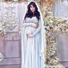 maternity evening dresses muslim sleeves sky blue evening gowns chiffon