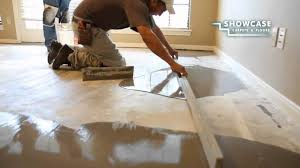 Laminate Flooring Underlayment For Concrete Floors Smoothing The Subfloor Youtube