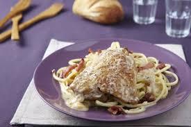 cuisiner blancs de poulet recette de poulet au vin blanc et aux lardons spaghettoni facile et