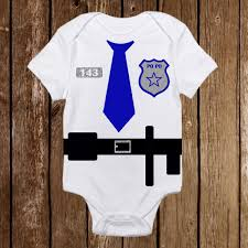 baby halloween onesies adorable halloween police officer cop costume onesie funny