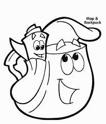 dora backpack dora coloring pages dora coloring pages