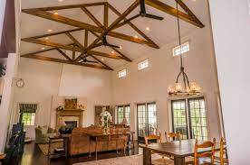 Cathedral Ceilings In Living Room 3 Lancaster Farm Living Dining Room With Cathedral Ceilings And