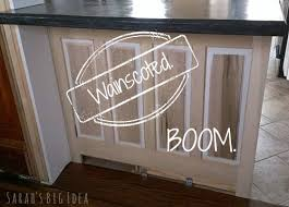 wainscoting kitchen island wainscoting like a s big idea