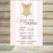 Lingerie Party Invitations Pink And Gold Glitter Bridal Lingerie Shower Invitation Wedding