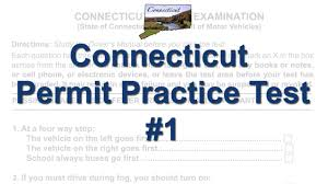 connecticut permit practice test 1 youtube
