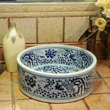 Cheap Vessel Sinks Vessel Sinks 35 Stunning Blue And White Vessel Sink Image