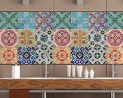 kitchen backsplash tile stickers tile decals patchwork tile decal kitchen tile stickers
