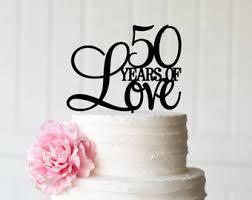 50th wedding anniversary cake topper 50 years cake topper 50th birthday or anniversary cake