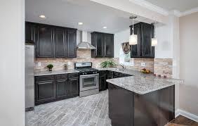 light granite countertops with dark cabinets dark cabinets with light granite countertops t35 in fabulous home