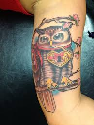 owl lock and key tattoo tattoomagz