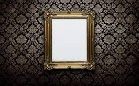 Picture Frame On Wall by Download Wallpaper Wall Gold Frame White Section Style In