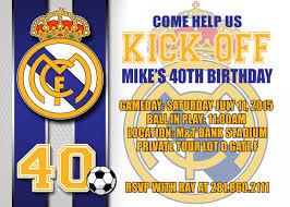 homemade minecraft invitations 4 95 real madrid digital birthday invitation soccer diy party