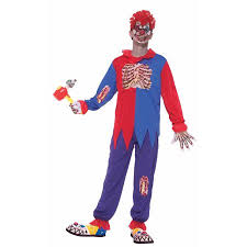 Scary Halloween Clown Costumes Scary Horror Clown Costume Child Walmart