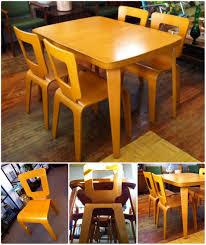 40 X 40 Dining Table Thaden Jordan Molded Wood Dining Table U0026 Chairs Circa 1947 1951