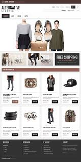 fashion e shop website templates alternative clothes online shop custom website