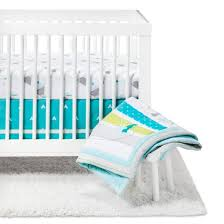 crib bedding set adventure awaits 4pc cloud island blue target