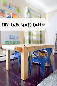 diy kid u0027s craft table