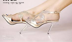 wedding shoes daily 2011 luxury diamond gold wedding shoes sandals high fish with