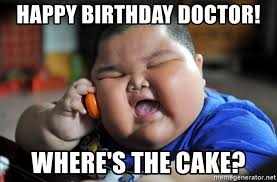 Doctor Who Birthday Meme - happy birthday doctor where s the cake fat kid on phone meme