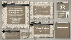 burlap wedding invitations read more black ribbon lace burlap wedding invitation wedding